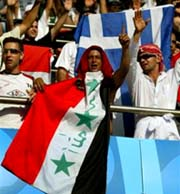 Iraq flag at Athens Olympics August 2004