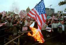 Burning the American flag in Iran