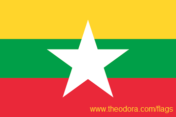 Flag of Burma Myanmar