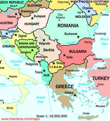 Maps of the Balkan Region - Flags, Maps, Economy ...