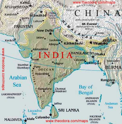 Maps of India - Indian Flags, Maps, Economy, Geography, Climate ...