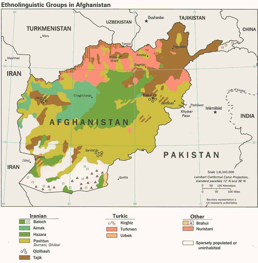 Afghanistan Climate Map