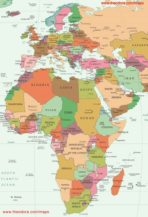 Map Of Europe And Africa Maps of Europe Middle East Africa Region   EMEA, Flags, Maps  Map Of Europe And Africa