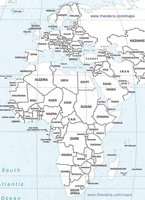 It is a photo of Blank Map of Africa Printable throughout continent