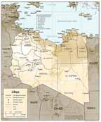 Large Map of Libya