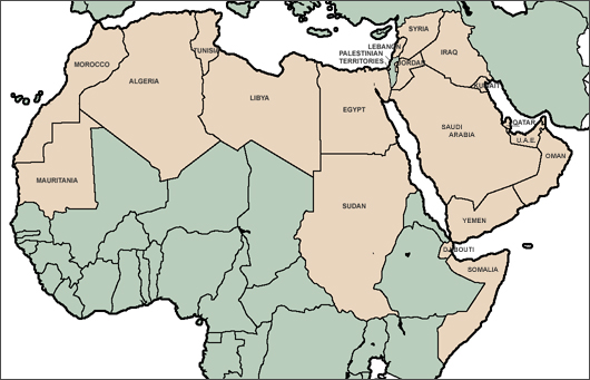 Map of the Arab World - Arab Countries Map