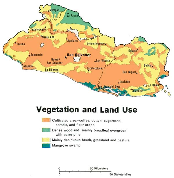 El Salvador Vegetation Map