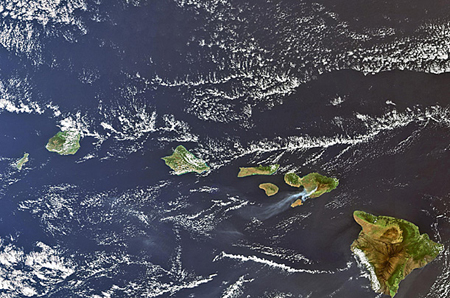 Photo of Hawaii from space