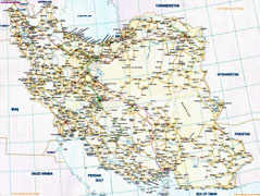 Iran Road Map - Click to enlarge