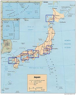Maps Of Japan Japanese Flags Maps Economy Geography Climate