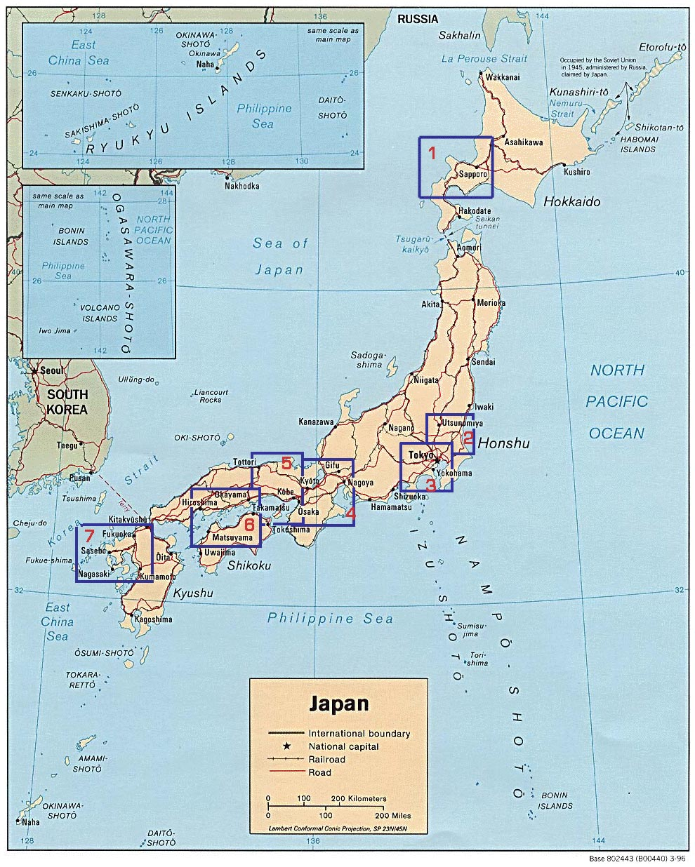 Maps Of Japan Page Japanese Flags Maps Economy Geography - Japan map political