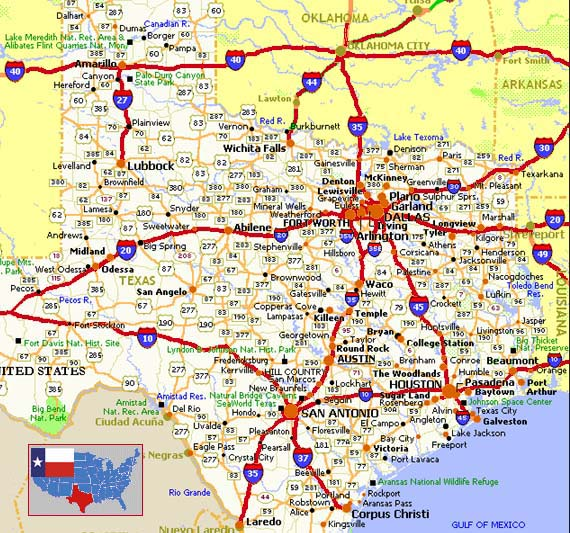 Map Of Texas With Cities And Counties.Texas County Map With Roads Bnhspine Com