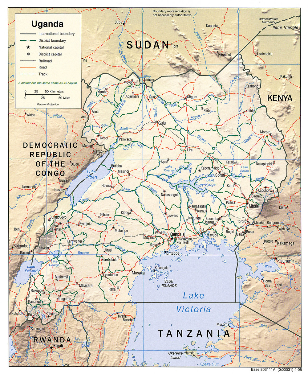 Maps of Uganda Ugandan Flags Maps Economy Geography Climate
