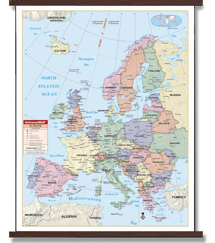 Map Of Europe With Latitude And Longitude