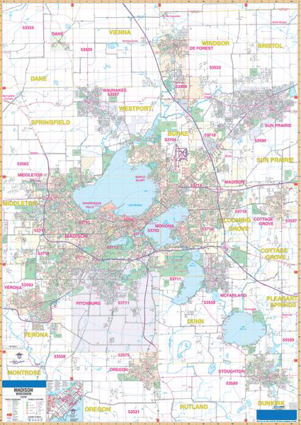 Wisconsin Zip Code Map