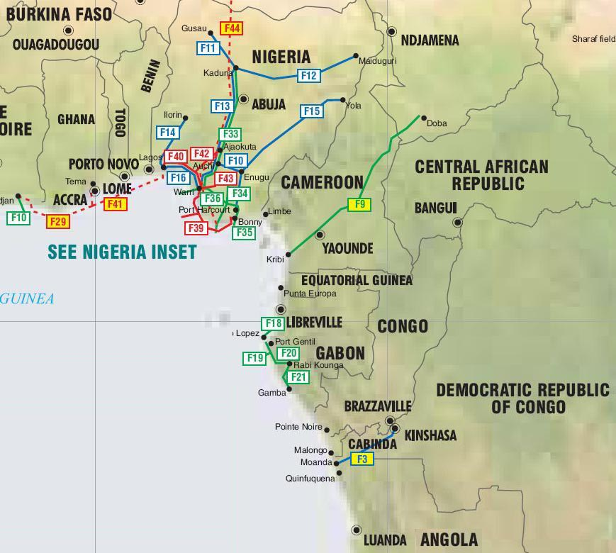 West Africa Location West Africa Oil Gas And