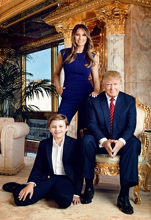 The Trump family at home in New York