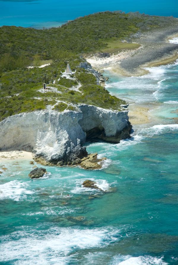 Steep coastline, Long Island, Bahamas Photo