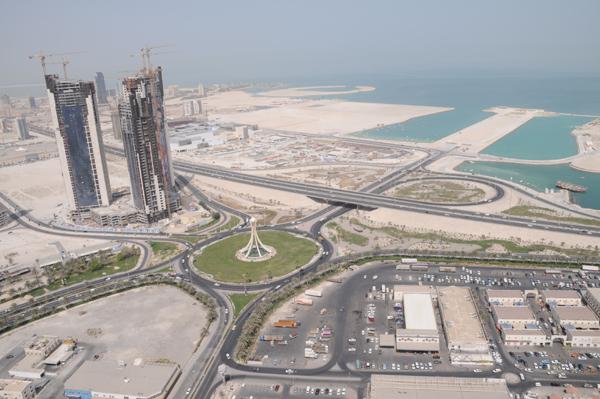 Abraj Al Lulu, the Pearl Roundabout Traffic Circle in Manama, Bahrain