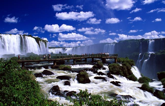 Waterfalls Foz Do Iguacu Parana Brazil Photos - Flags, Maps ...