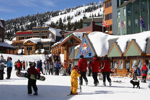 Big white ski resort village kelowna british columbia canada photo