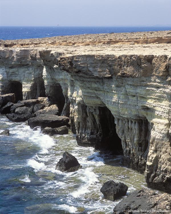 Agia Napa, Sea Caves, Cyprus Photo