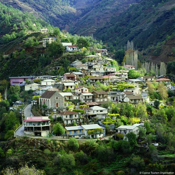 Ikos Village On Troodos Mountains, Cyprus Photo