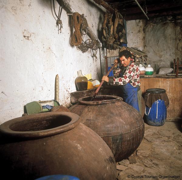 Making Wine, Cyprus Photo