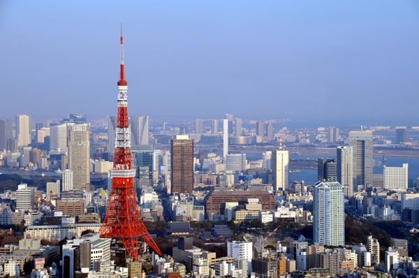 Tokyo Japan  city pictures gallery : Tokyo Tower and surrounding area, Tokyo, Japan photo