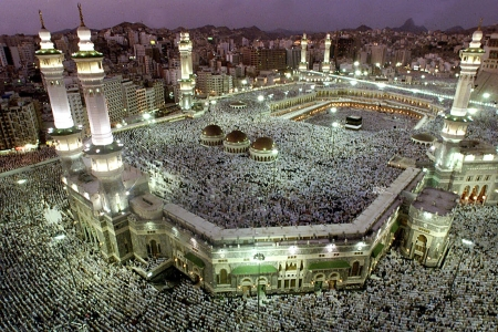 The Grand Mosque in Mecca.
