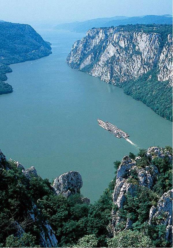 iron gate of danube river  serbia photo