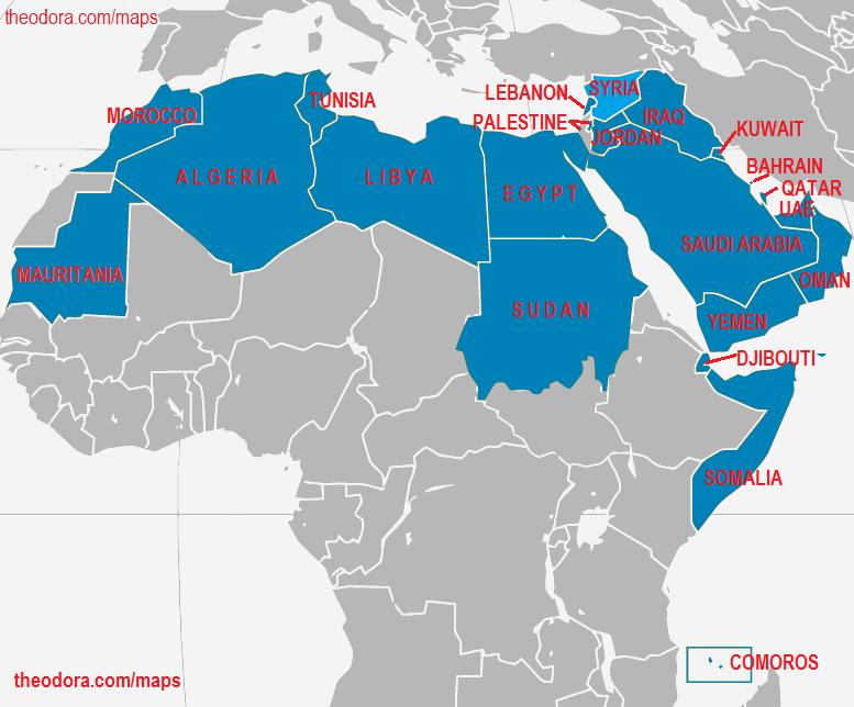 Arab Countries – Map Arab Countries